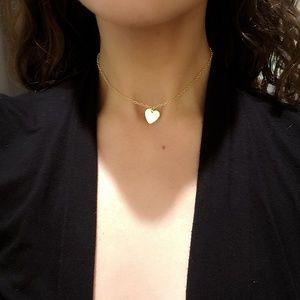 Jewelry - Dainty Gold Heart Choker